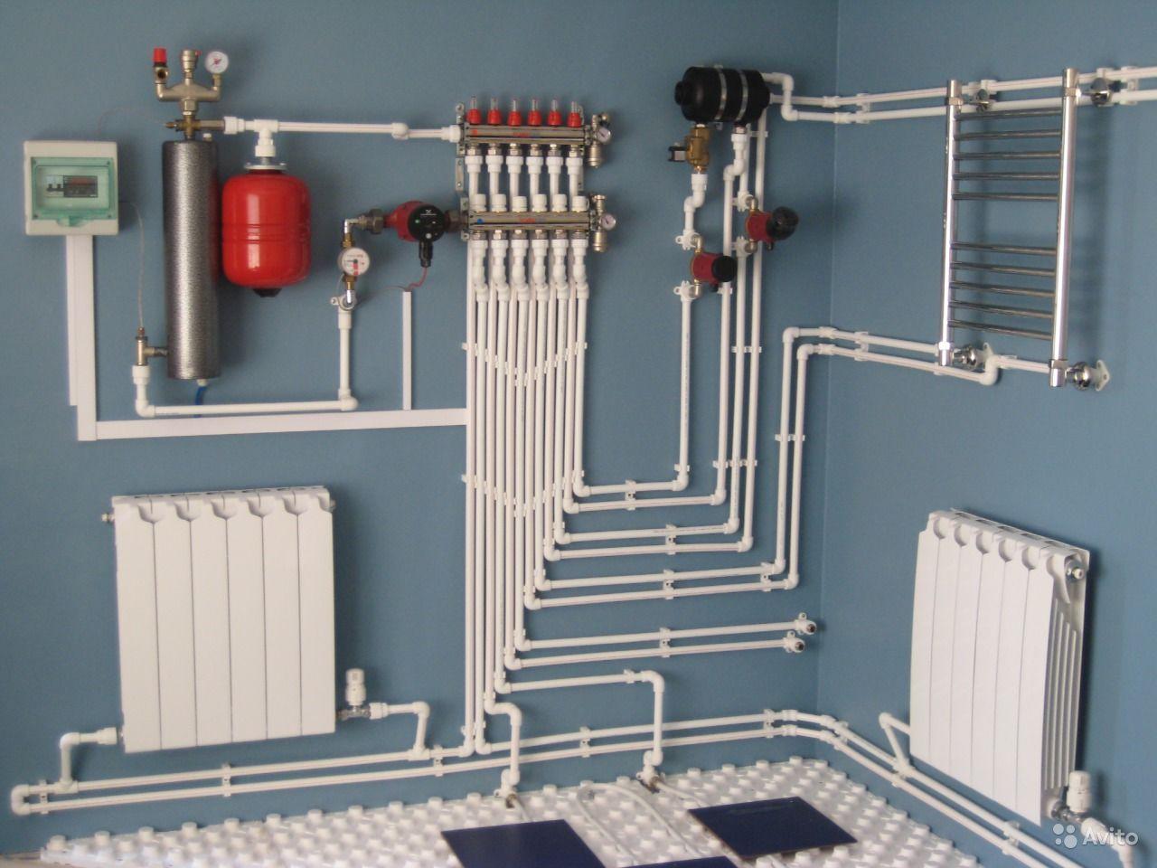 Установка батарей отопления в частном доме цена