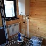 Монтаж системы отопления банного комплекса