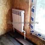Отопление каркасного дома. Поселок Северный