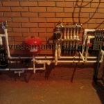 Отопление частного кирпичного дома в пос. Сокуры.